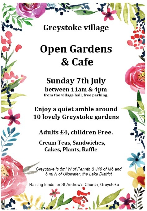 Open Gardens and Cafe – Sunday 7th July
