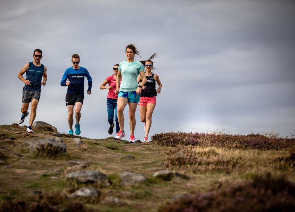 Men and Women Trail Running